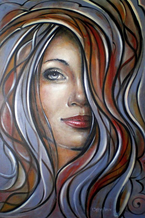 Original Painting - Cool Blue Smile 070709 by Selena Boron