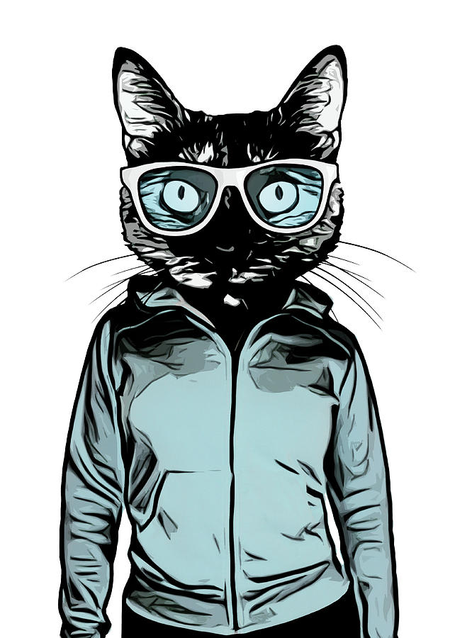 Cat Mixed Media - Cool Cat by Nicklas Gustafsson