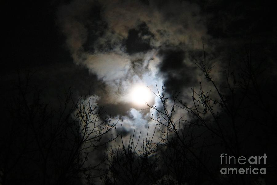 Cool Clouds At Night Photograph