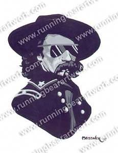 Monochrome Painting Painting - Cool Custer by Michael Meissner