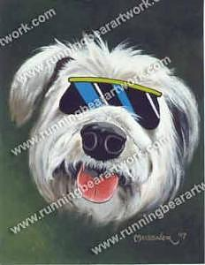 Cool Dog Painting - Cool Dog by Michael Meissner