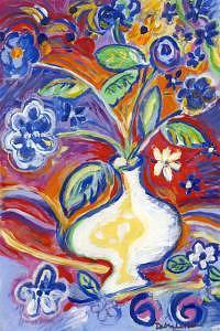 Cool Painting - Cool Flowers by Debra LaBar