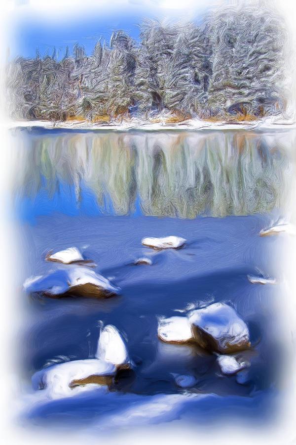 Impressionistic Digital Art - Cool Impression by Chris Brannen