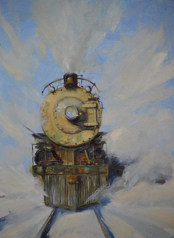 Steam Locomotive Painting - Cool Running by Greg Clibon