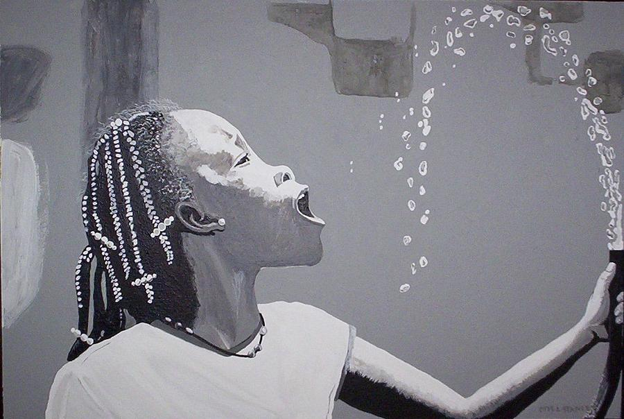 Human Form Painting - Cool Water by Otis L Stanley