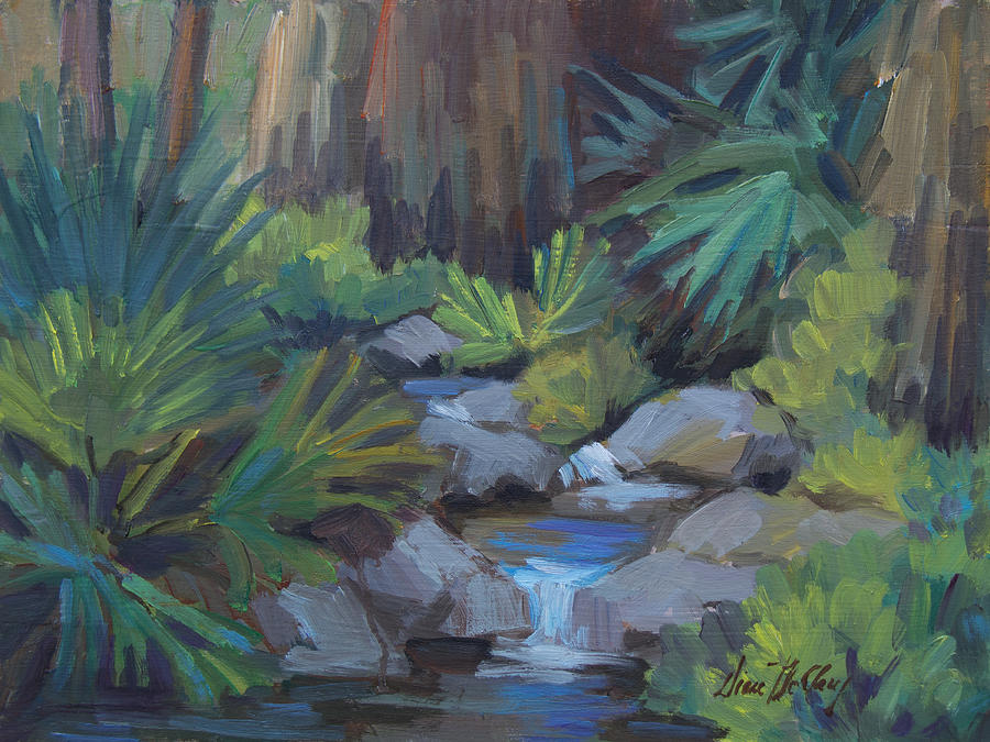 Andreas Painting - Cool Waters At Andreas Canyon by Diane McClary