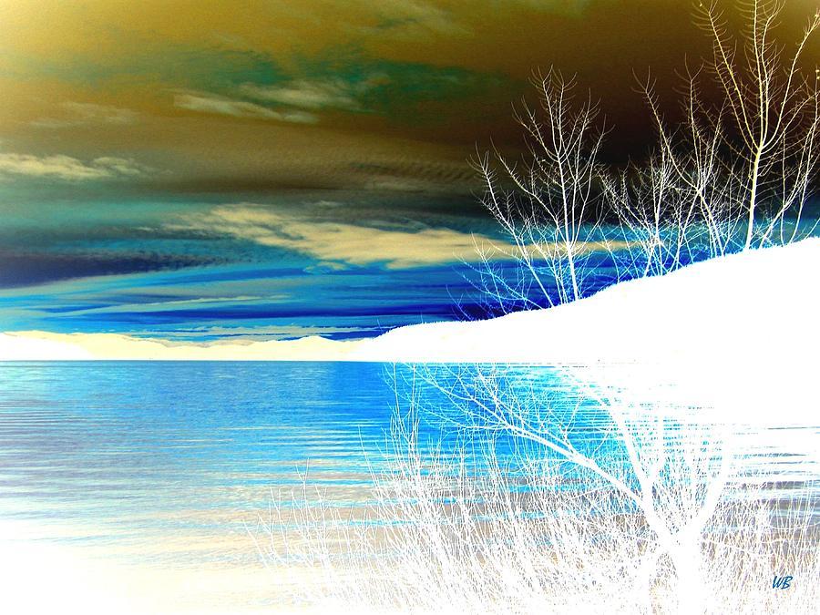 Winter Digital Art - Cool Waters by Will Borden