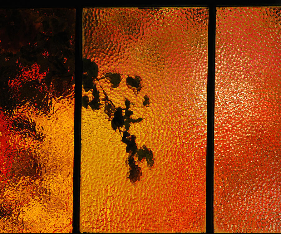 Orange Photograph - Cool Windows 1 by Jean Booth