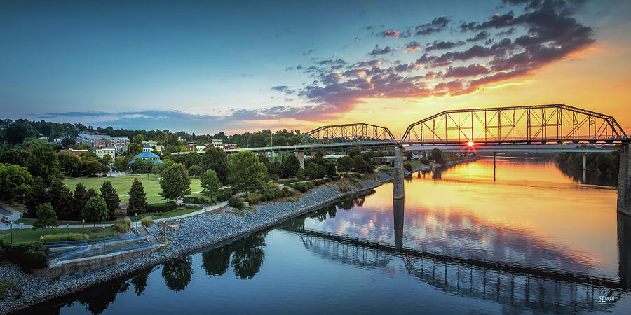 Coolidge Park Sunrise Panoramic by Steven Llorca
