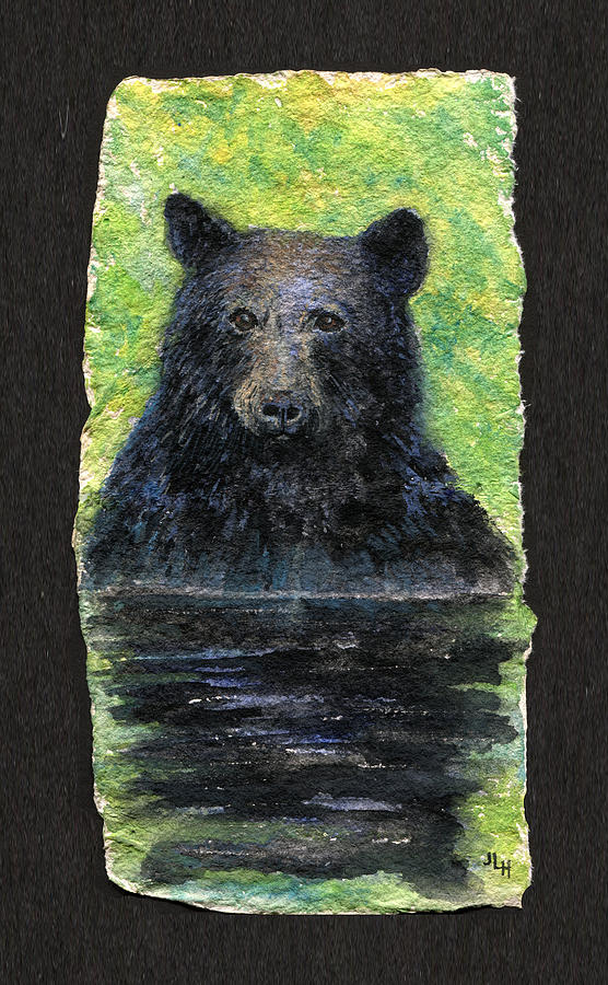 Bear Painting - Cooling Off by June Hunt