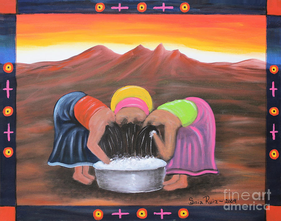 Mexican Art Painting - Cooling Off by Sonia Flores Ruiz