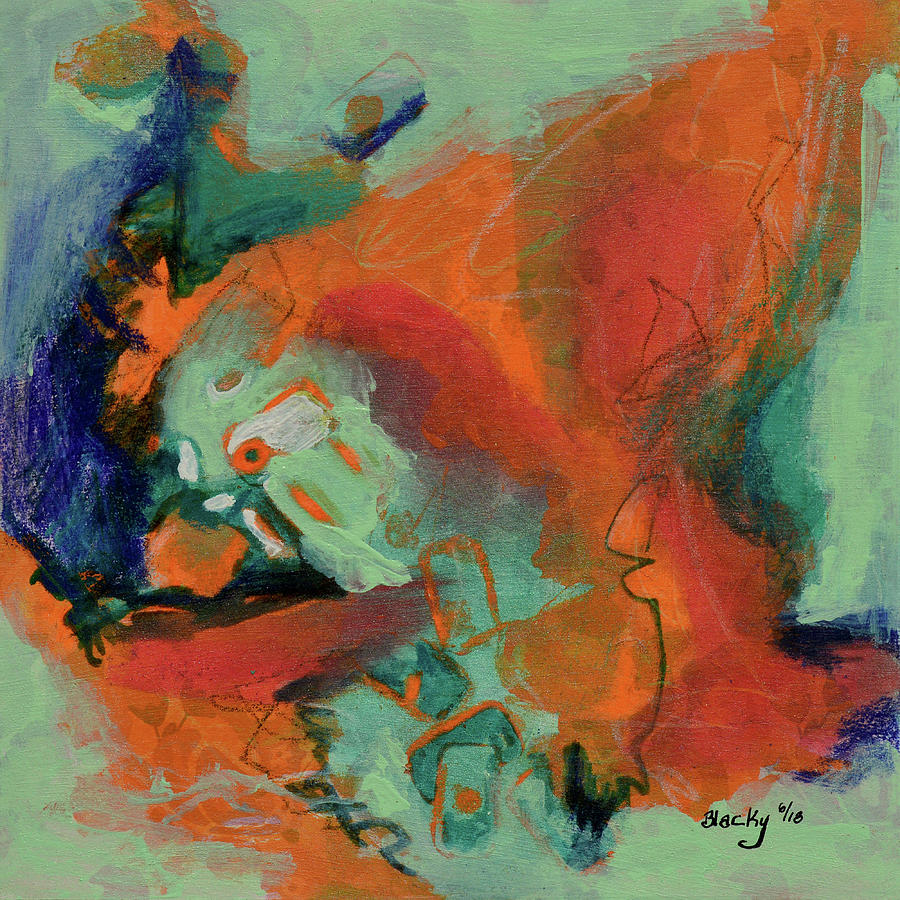 Cooling Trend Mixed Media by Donna Blackhall