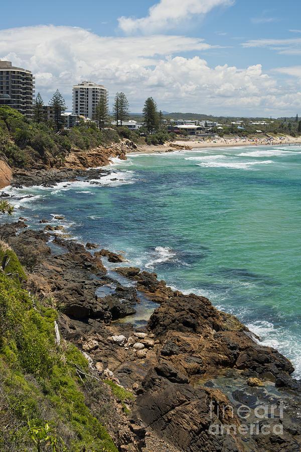 Coolum Beach Scene Sunshine Coast Australia Photograph By