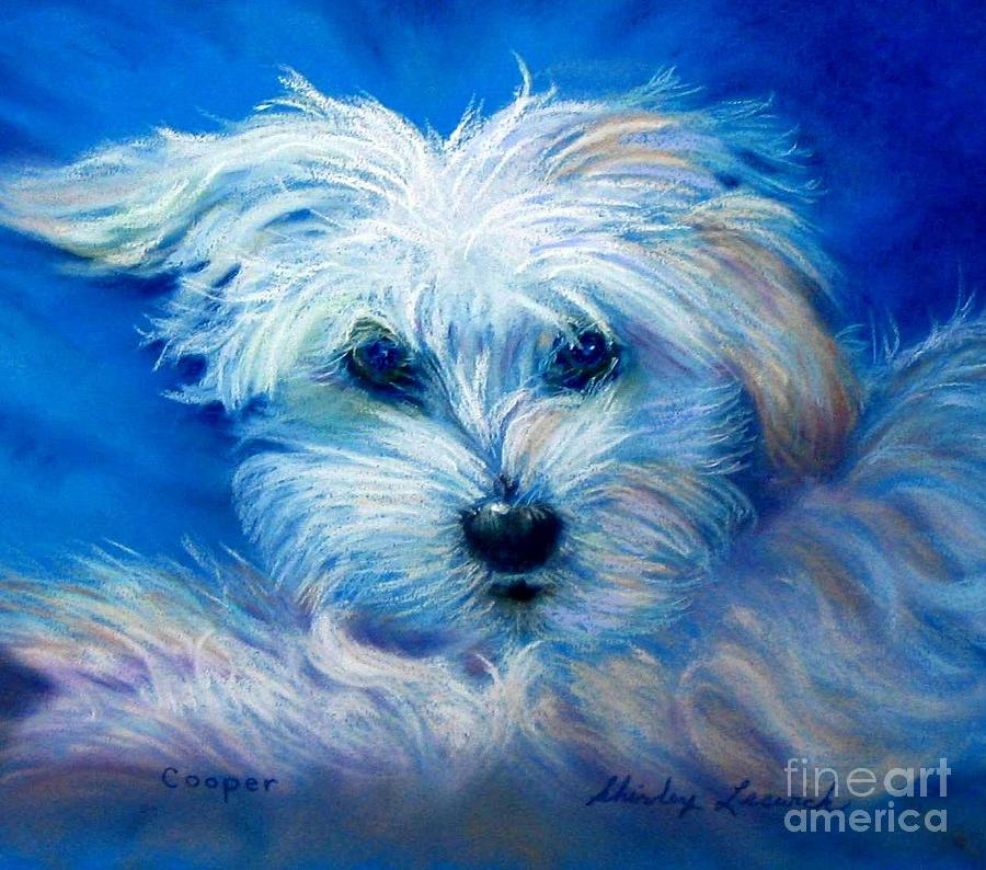 Portrait Painting - Cooper by Shirley Leswick