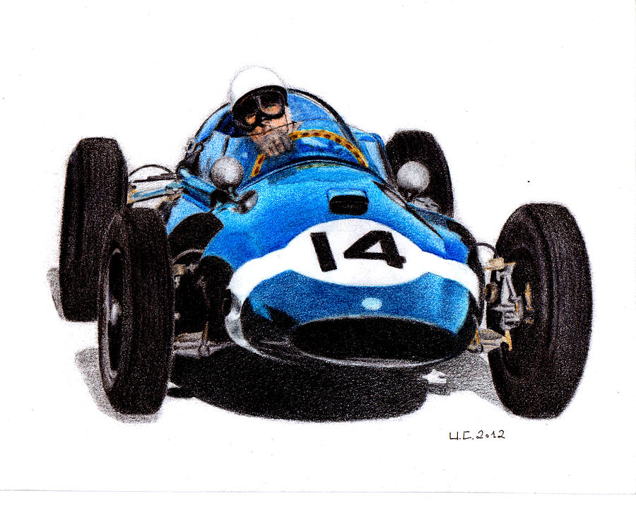 Formula 1 Painting - Cooper T51 Stirling Moss 1959 by Ugo Capeto