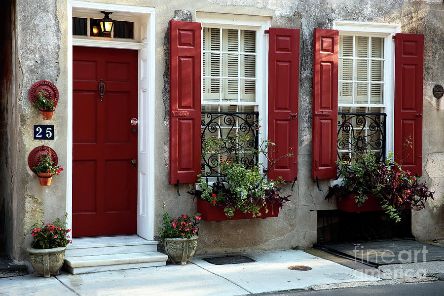 House Photograph - Coordinated In Charleston by John Rizzuto