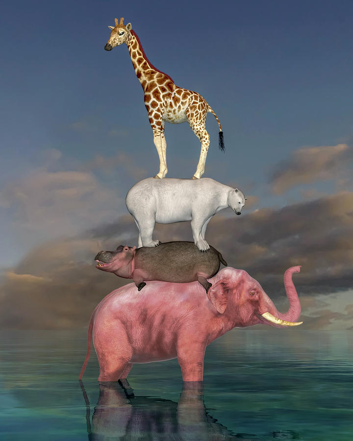 Surreal Digital Art - Coporate Collaboration  by Betsy Knapp