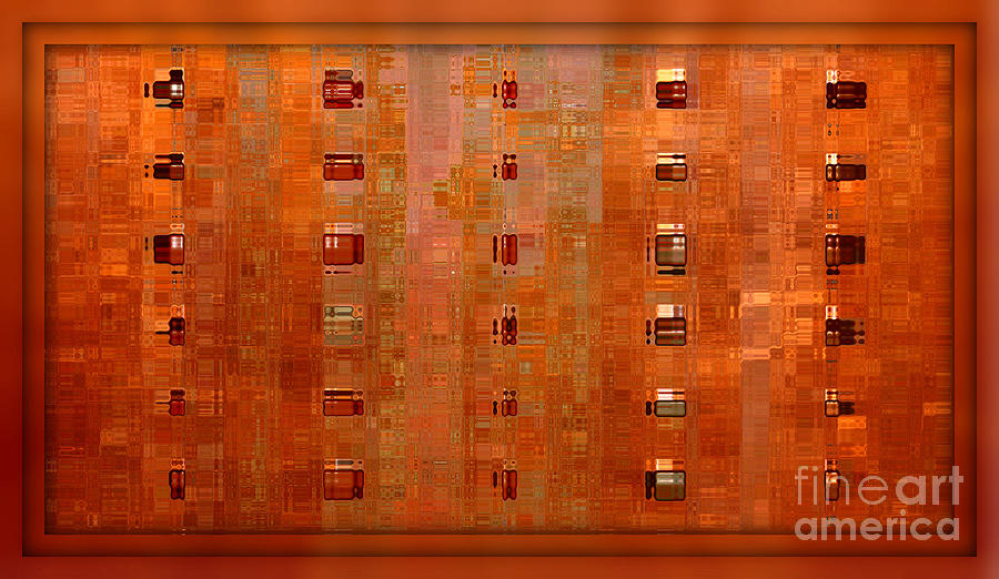 Digital Art Abstract Digital Art - Copper Abstract by Carol Groenen