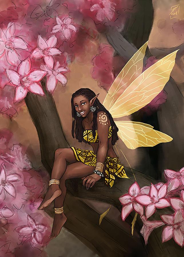 Fairy Digital Art - Copper by Brandy Woods
