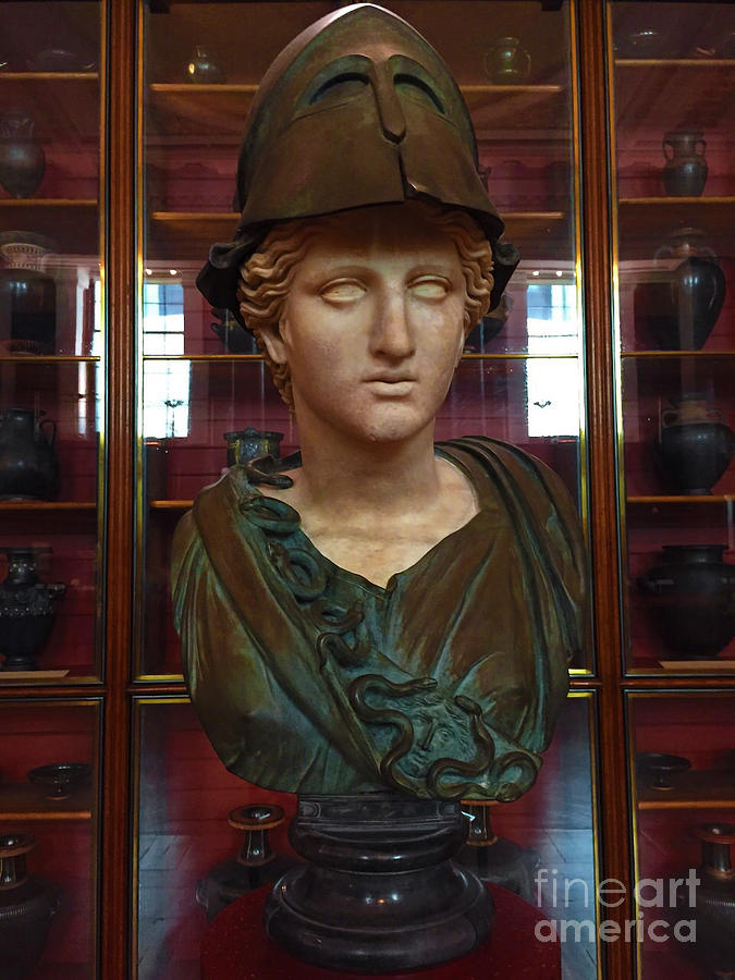 Michelangelo Photograph - Copper Bust In Rome by Doc Braham