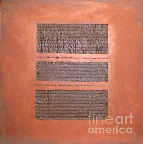 Decorative Painting - COPPER CLAD NUMBER three by Marlene Burns