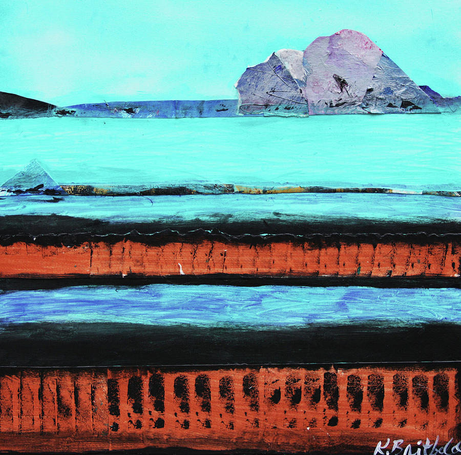 Abstract Painting - Copper Cliffs Beachside by Karla Britfeld