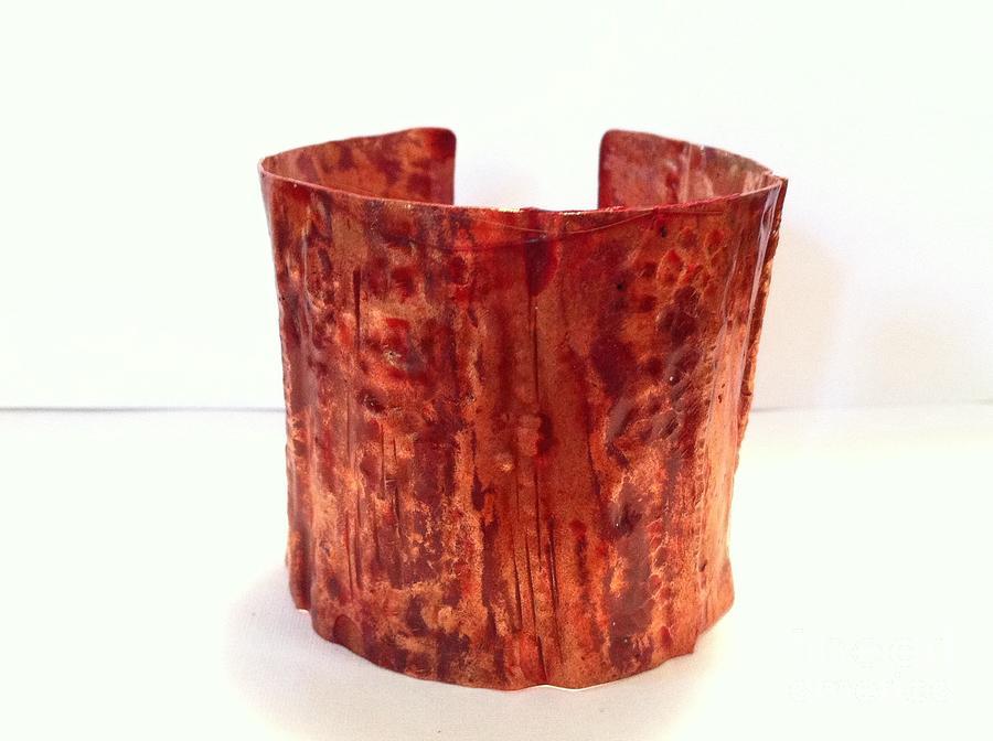 Copper Cuff Bracelet by Victoria Bosman