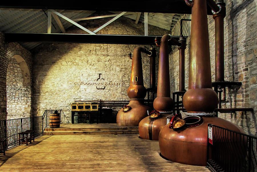 Bourbon Barrels Photograph - Copper Still House by Karen Varnas