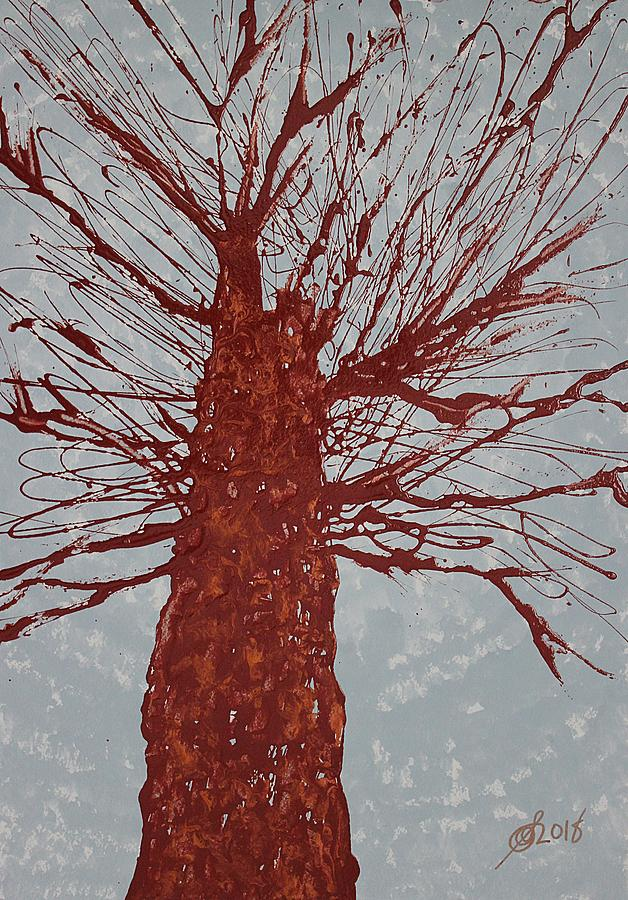 Copper Tree original painting by Sol Luckman