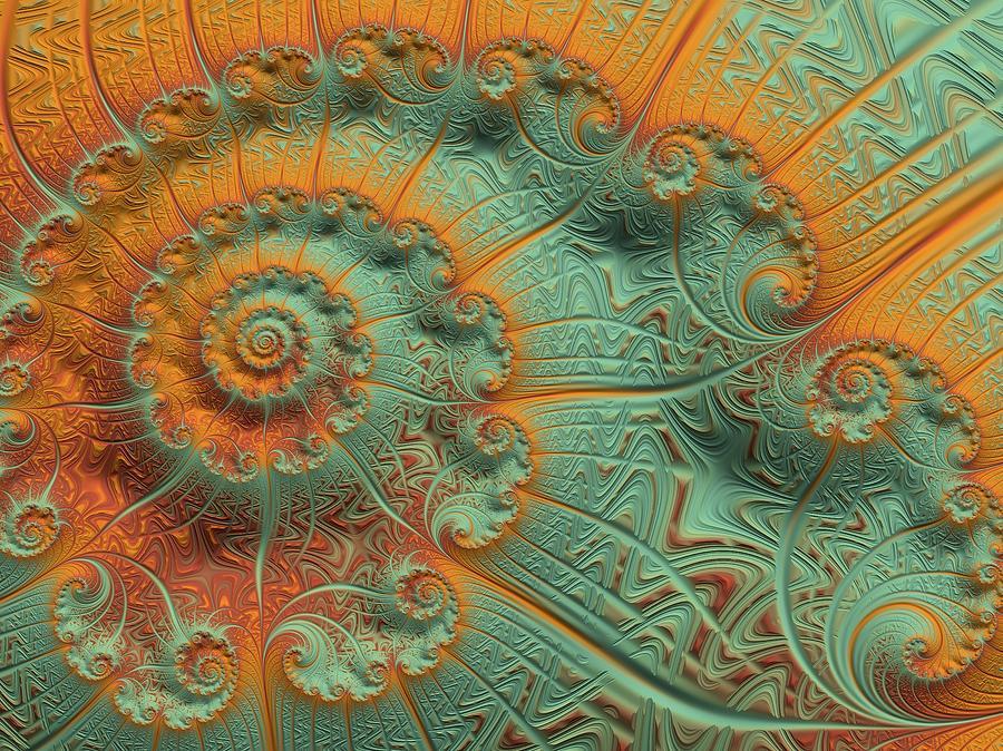 Copper Verdigris Digital Art By Susan Maxwell Schmidt