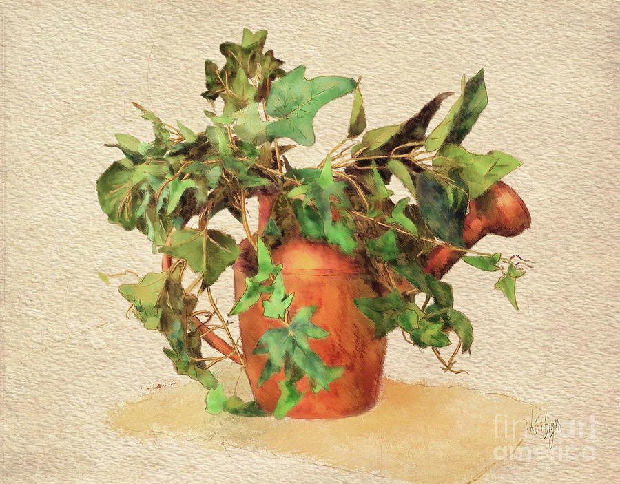 Can Digital Art - Copper Watering Can by Lois Bryan