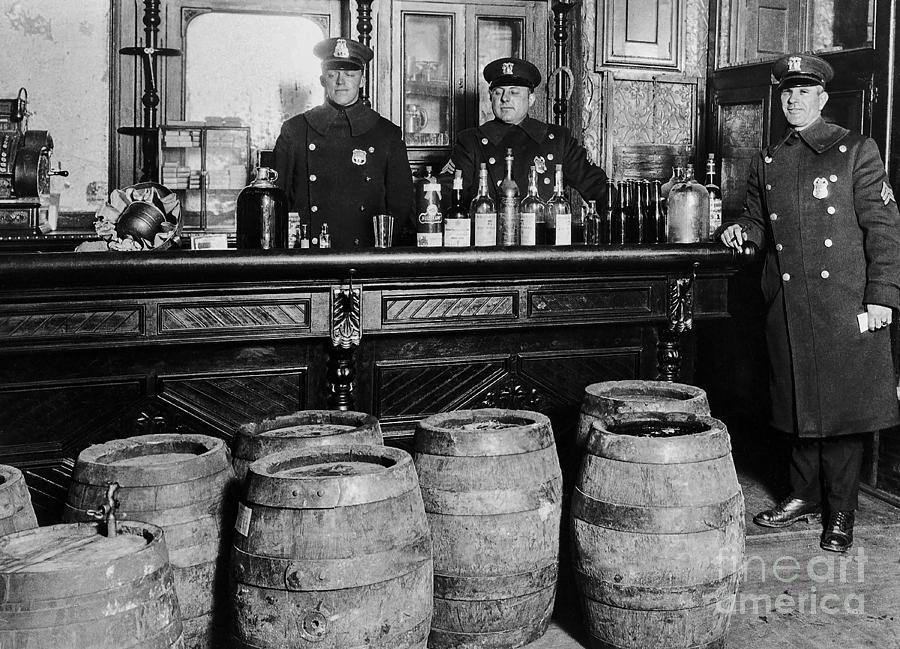 Prohibition Photograph - Cops At The Bar by Jon Neidert