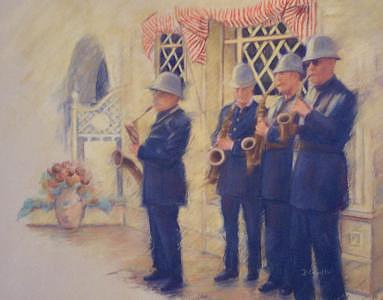 Cops Painting - Cops With A Beat by Diane Caudle