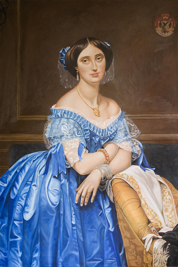 Ingres Painting - Copy After Ingres by Rob De Vries