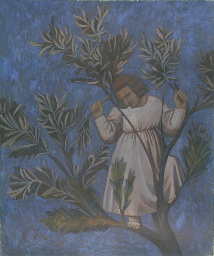 Tree Painting - Copy Of Giottos Frescoes by Robert Nizamov