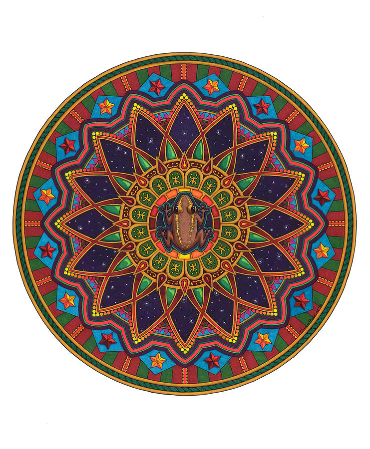 Mandala Painting - Coqui Mandala by Daniel Ramirez