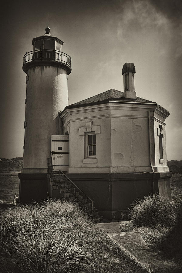 Lighthouse Photograph - Coquille River Lighthouse by Hugh Smith