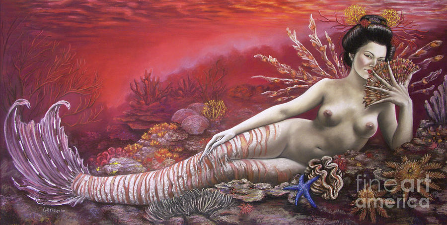 Fantasy Pastel - Coral 8thin The Vintage Mermaids Series by Carol Phillips