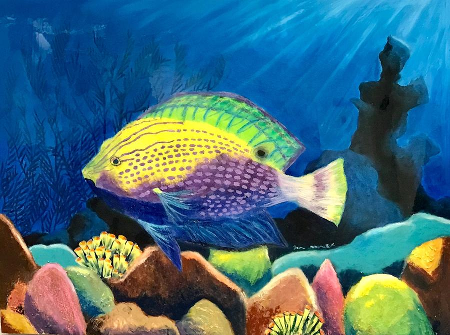 Fish Painting - Coral Beauty by Jason Rosenstock