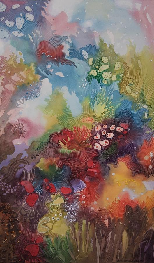 coral reef painting by ezartesa art