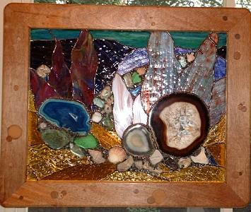Reef Glass Art - Coral Reef IV by Ladonna Idell