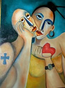 Corazon De Amor Painting by Niki Sands