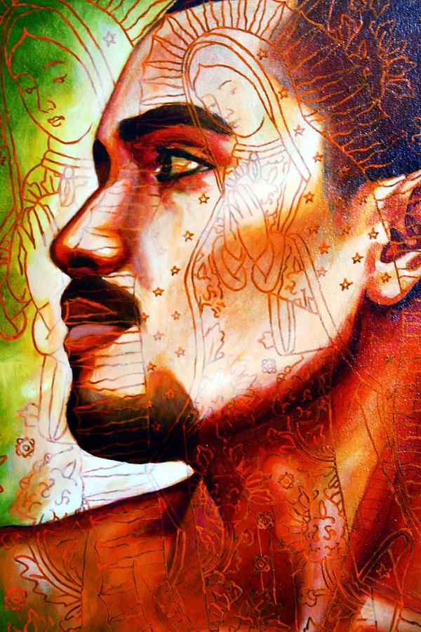 Figurative Painting - Corazon De Cruz by Juan Solis