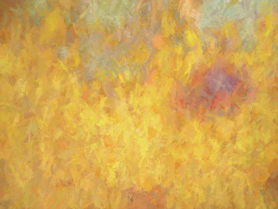 Abstract Digital Art - Corazon En Fuego by David King