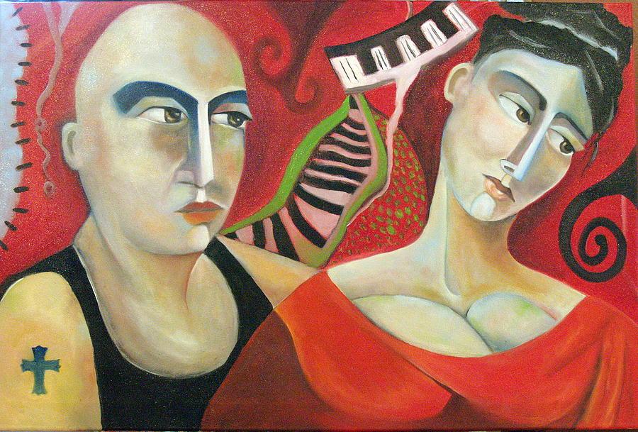 Corazon Pesado Painting by Niki Sands