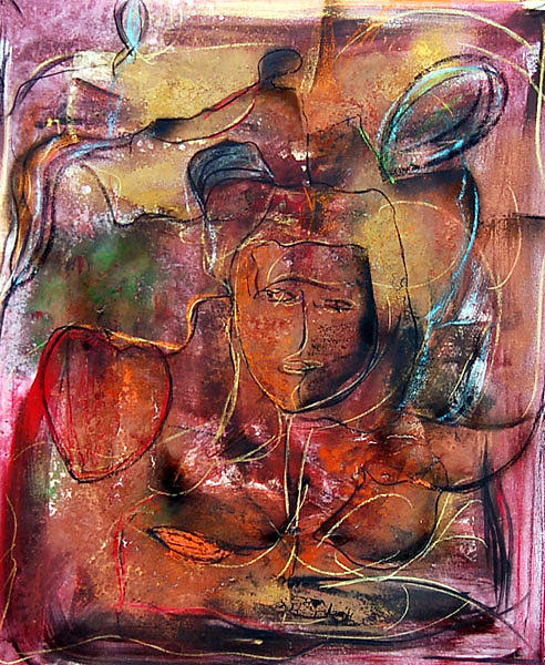 Corazon Painting - Corazon by Soledad  Fernandez