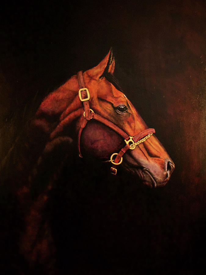 Equestrian Painting - Corcel Majestuoso - Majestic Steed by Roland Miguel