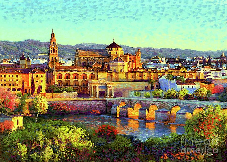 Cordoba Mosque Cathedral Mezquita Painting