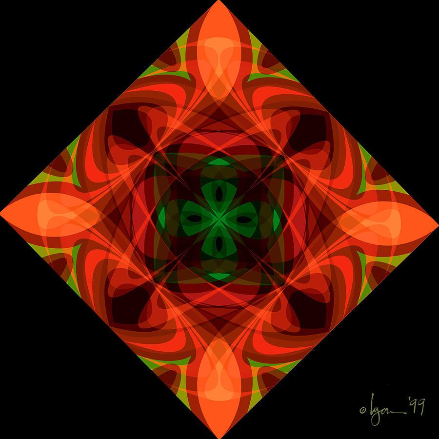 Mandalas Painting - Core by Angela Treat Lyon