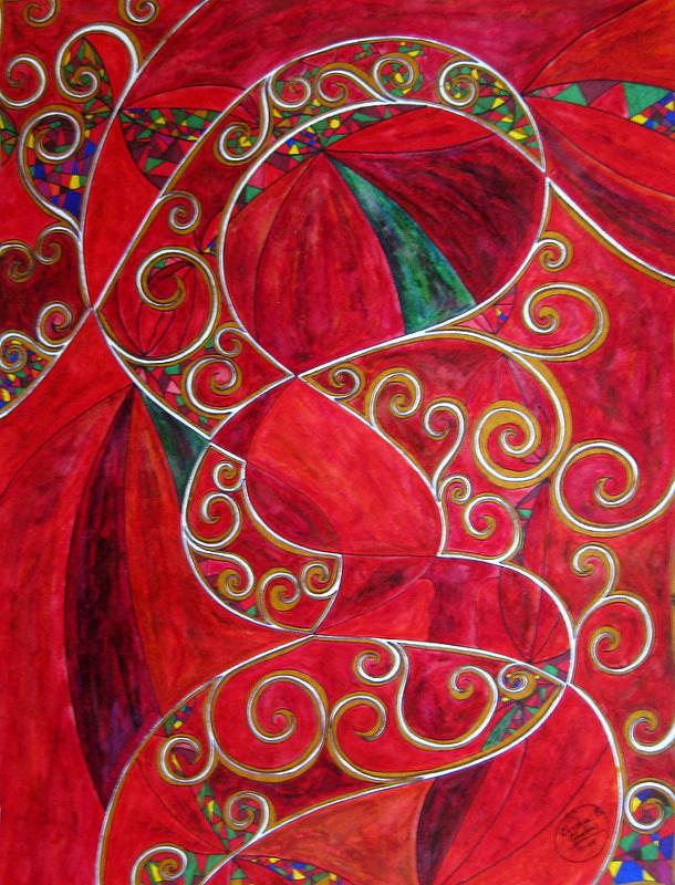 Corelli Painting - Corellis Christmas Concerto by Christine Bonnie Ghattas